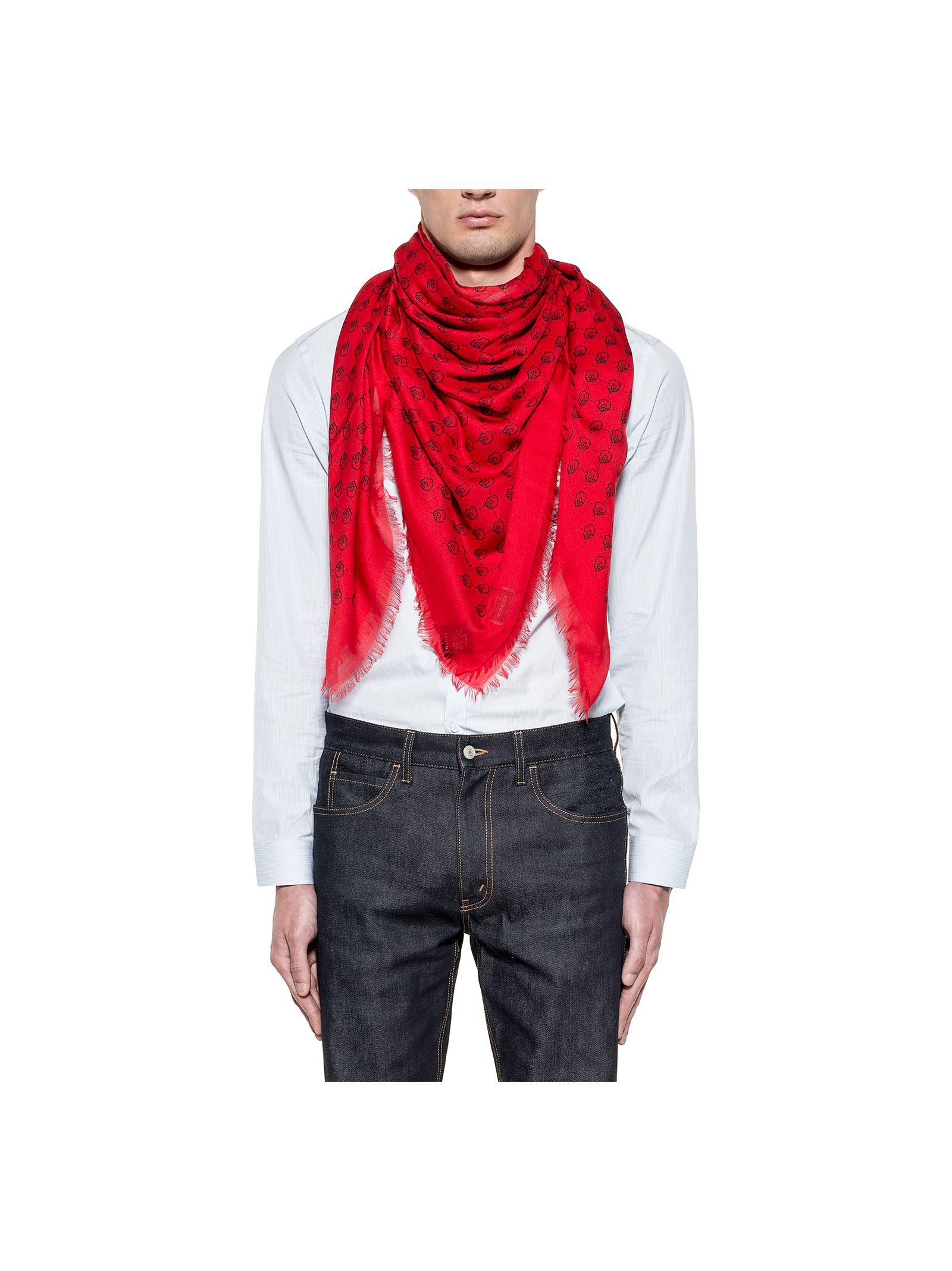 gucci male redblue hamlet scarf