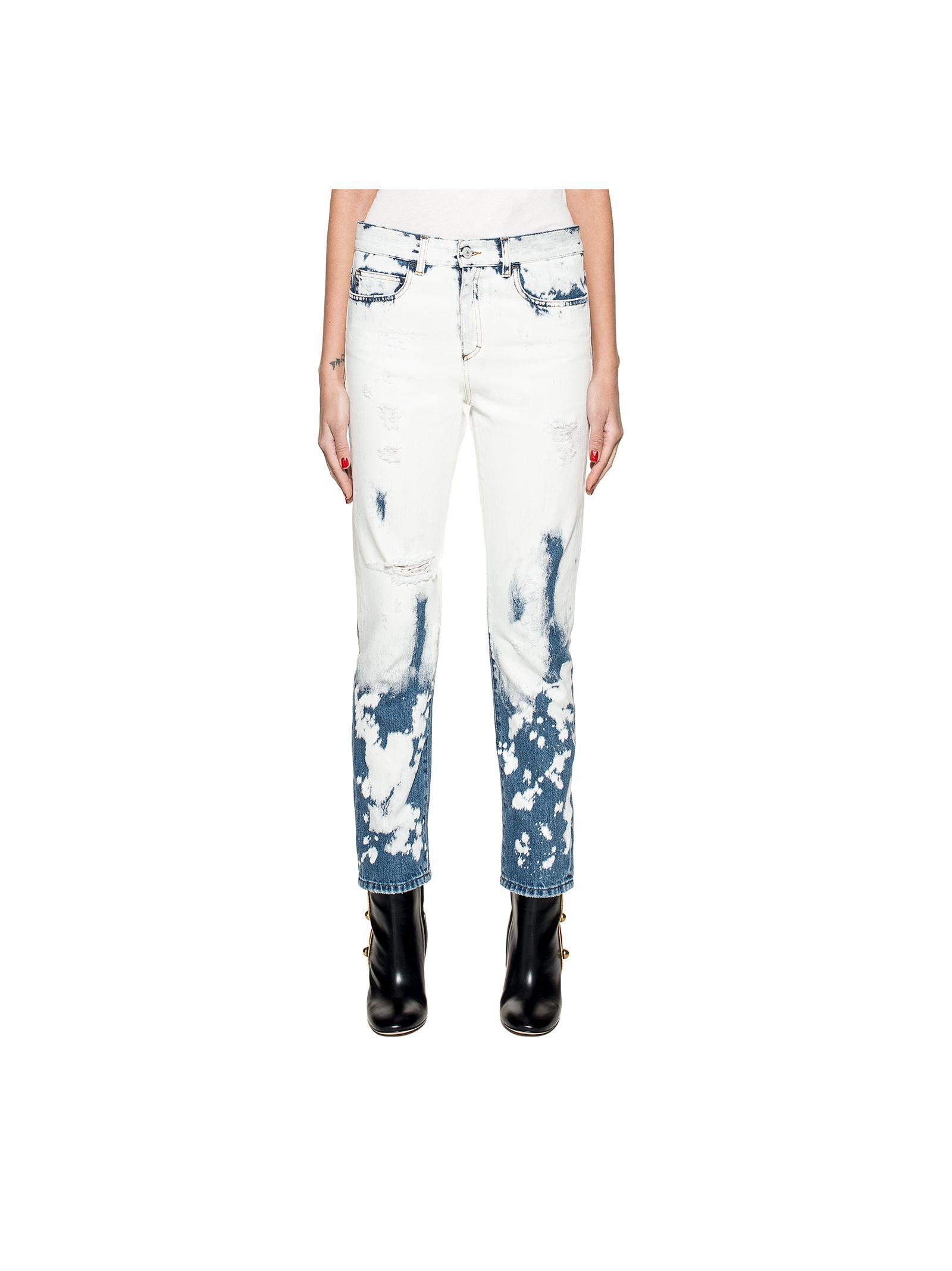gucci female whitedark blue denim jeans
