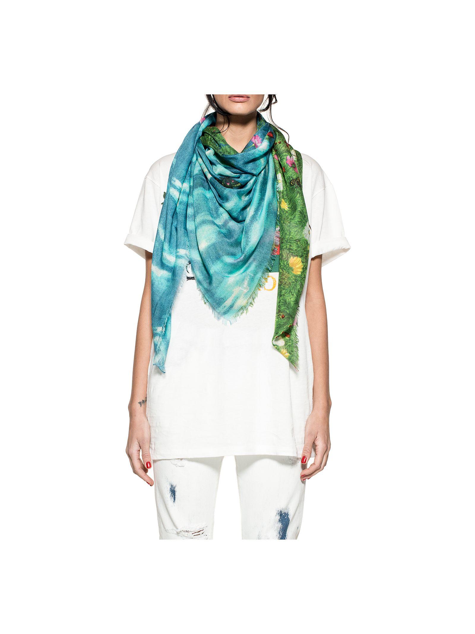 gucci female celestialgreen vita garden scarf