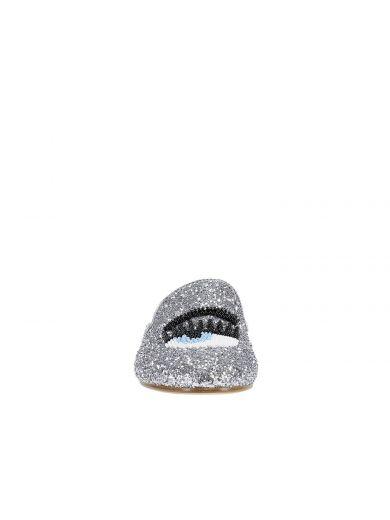 CHIARA FERRAGNI Sabot Chiara Ferragni Collection Flirting In Glitter Argento