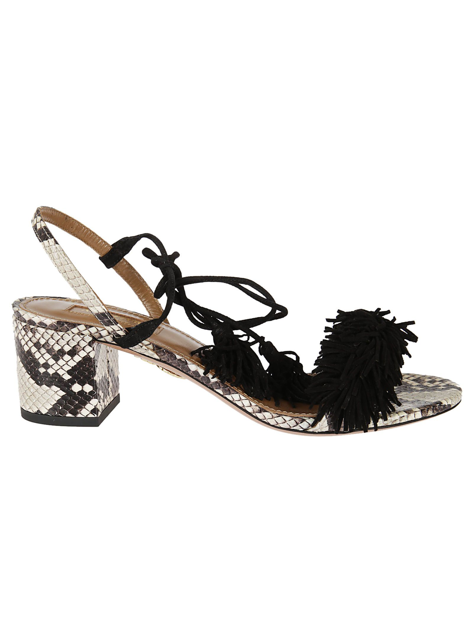 Aquazzura Snakeskin Wild Thing Sandals