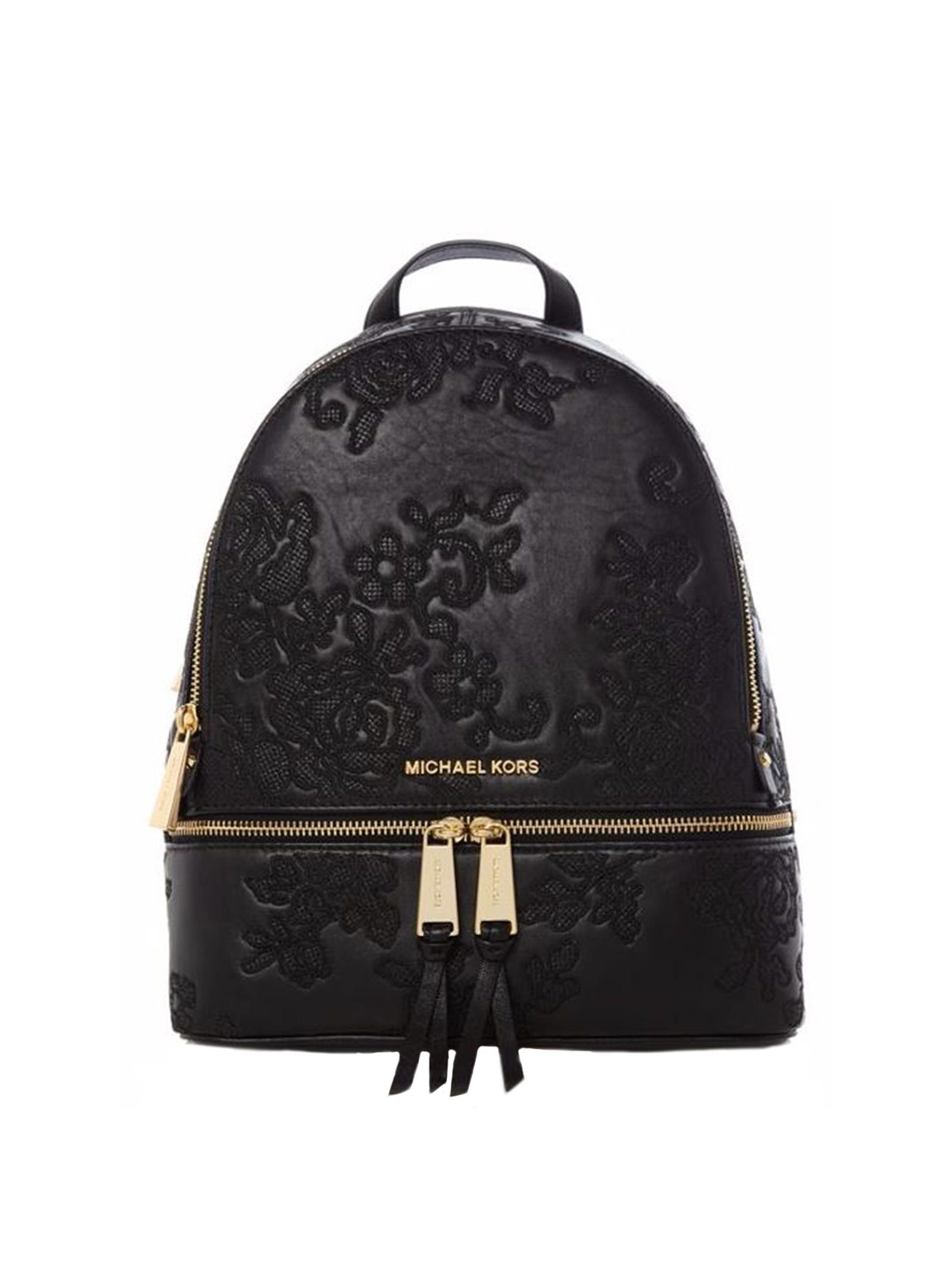 michael kors female michael kors black lace backpack