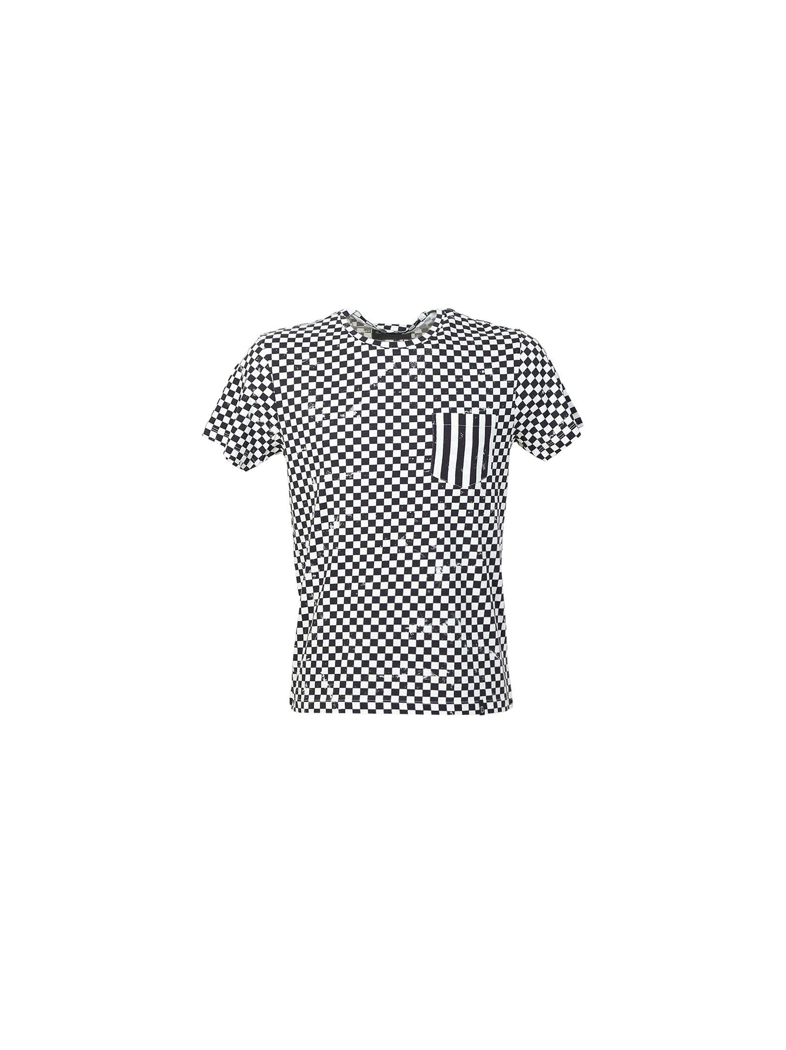 marc jacobs male chessboard cotton tshirt