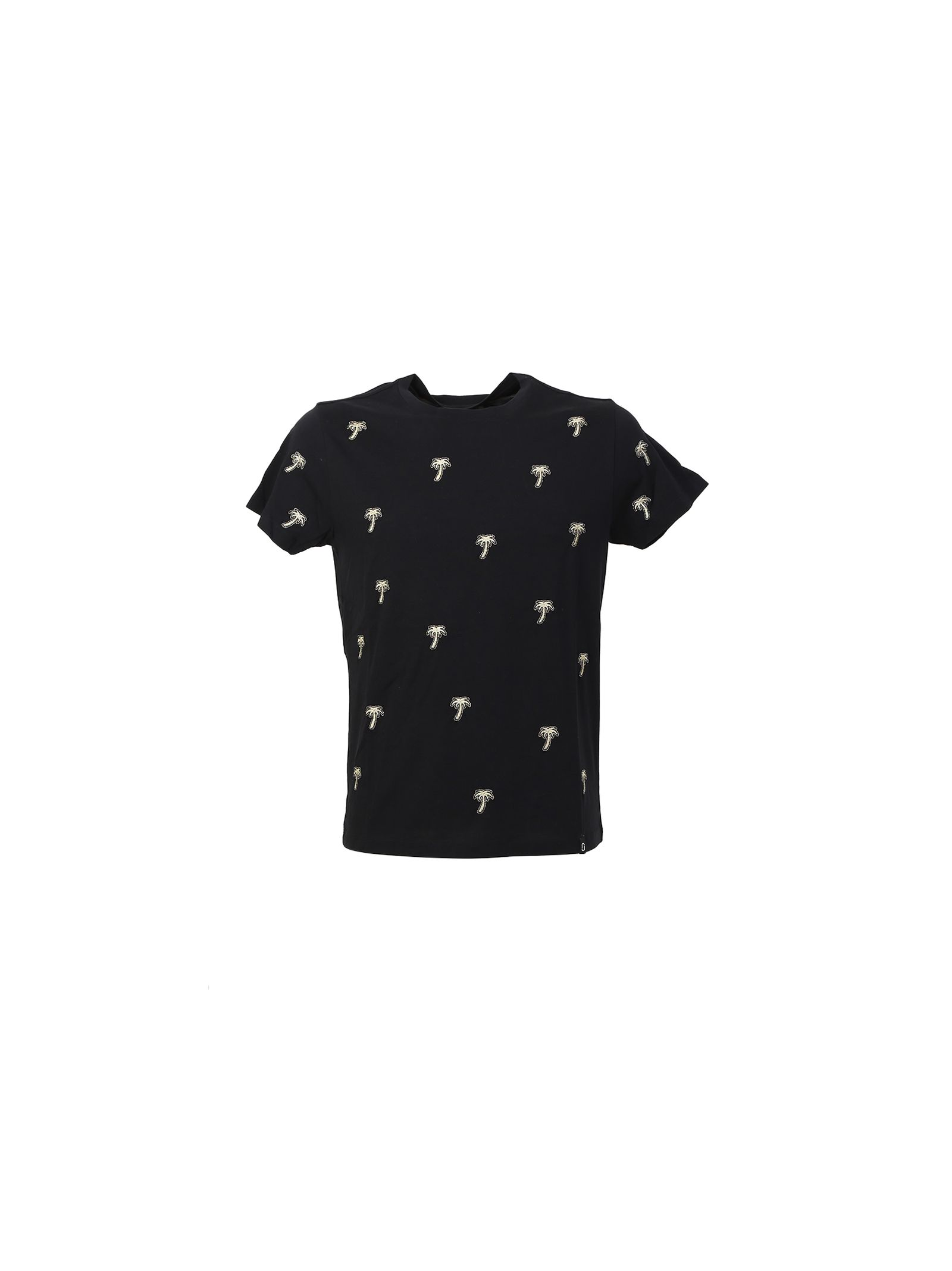 marc jacobs male embroidered black cotton tshirt