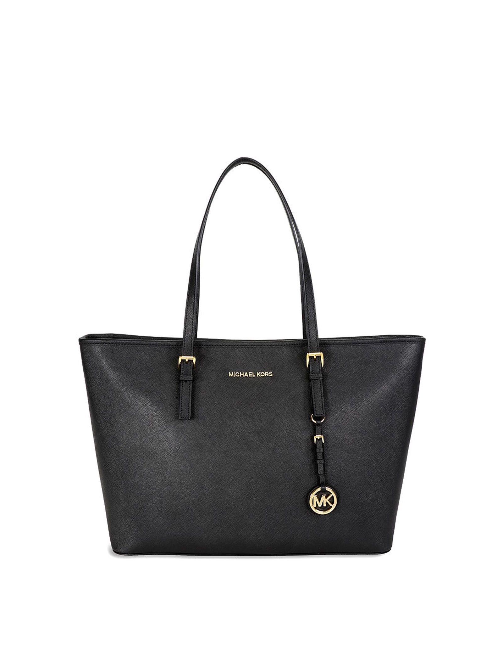 michael kors female michael kors jet set travel black bag