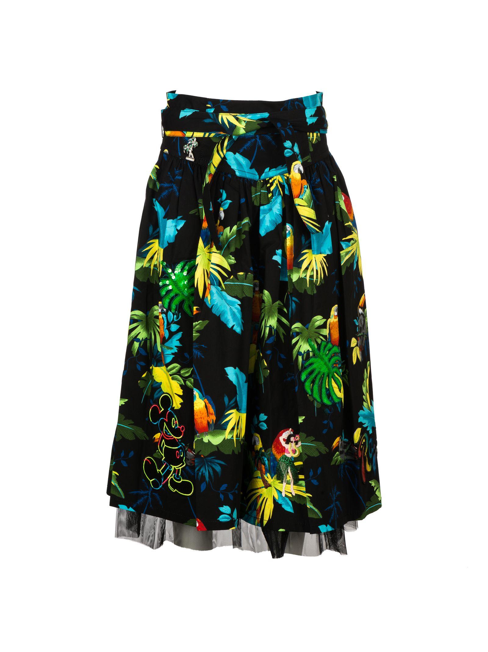 Marc Jacobs Parrots Print Pleated Skirt