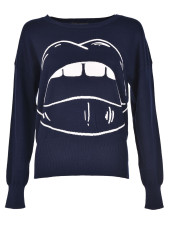 Markus Lupfer Cartoon Lara Lip Sweater