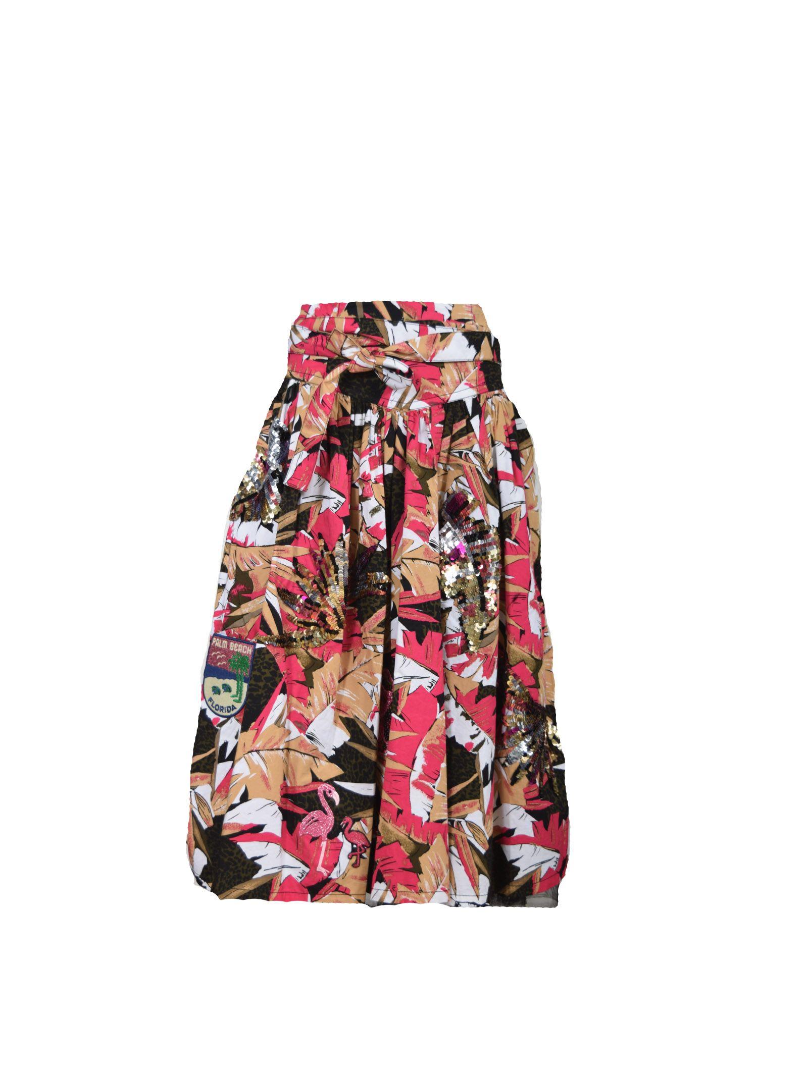 marc jacobs female marc jacobs floral print skirt
