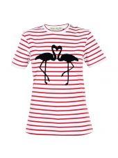 Flamingo Striped T-shirt