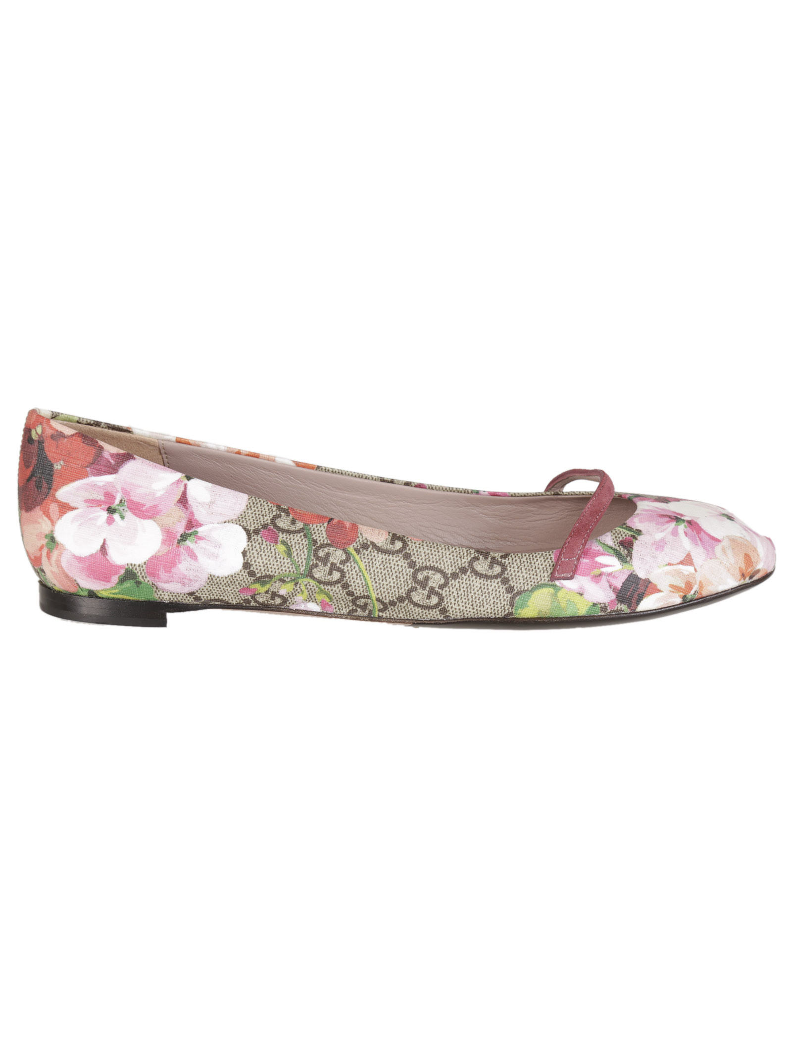 gucci gucci gg blooms ballerinas pink women 39 s flat shoes italist. Black Bedroom Furniture Sets. Home Design Ideas