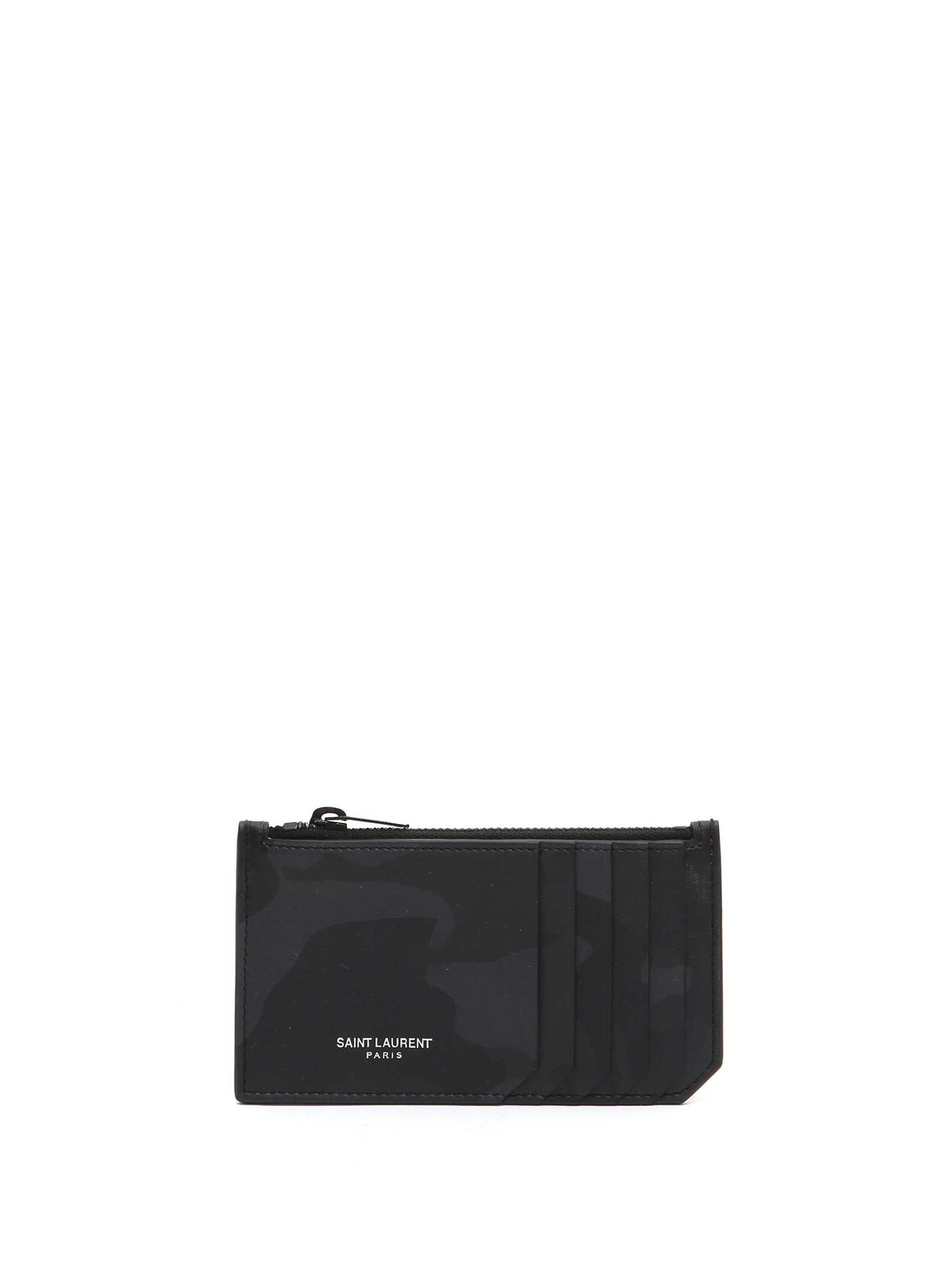 Saint Laurent 'paris' 5 Fragments Camouflage Zip Pouch