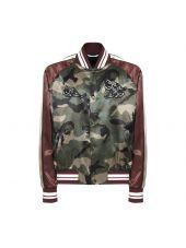 Valentino Contrast Camouflage Jacket
