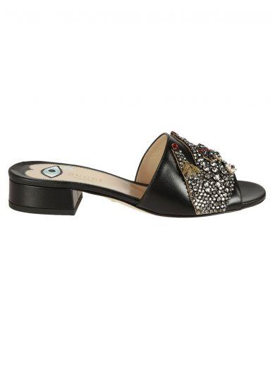 GUCCI Gucci Gucci Crystal Embellished Sandals