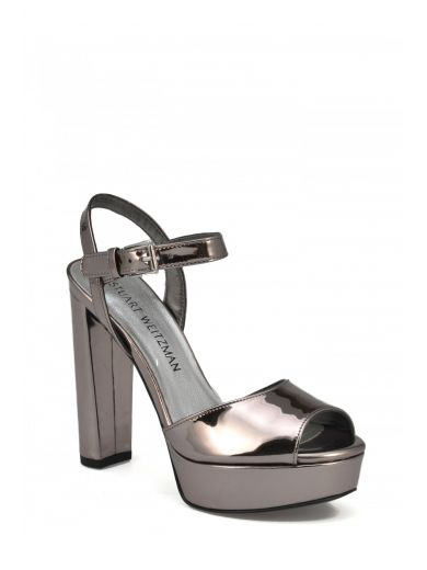 STUART WEITZMAN Stuart Weitzman Mirrored Leather Sandals