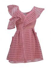 self-portrait The Lace Frill Mini Dress