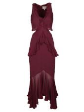 Cinq A Sept V-neck Ruffled Dress