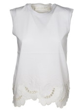 Victoria Beckham Lace Detailed Tank Top