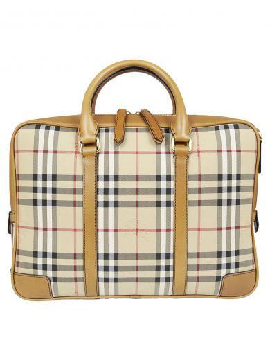 BURBERRY Burberry Horseferry Check Briefcase