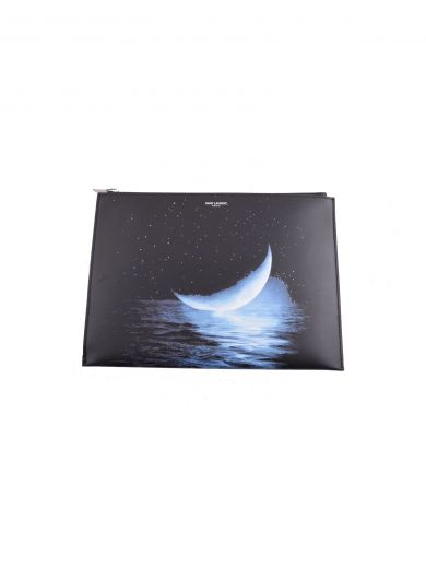 SAINT LAURENT Saint Laurent Sea And Moon Print Clutch