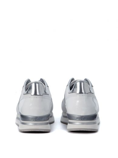 HOGAN Sneaker Hogan H222 In White And Silver Leather