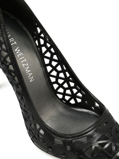 STUART WEITZMAN Stuart Weitzman  Cutuptown Laser-Cut Leather Pumps