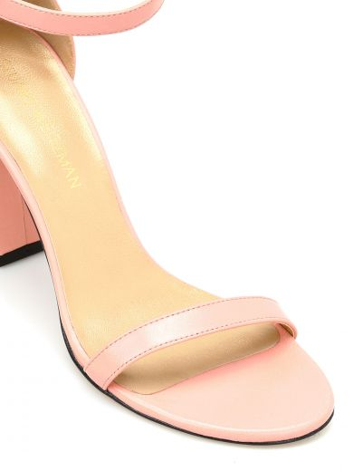 STUART WEITZMAN Walkway Leather Sandals in Pink