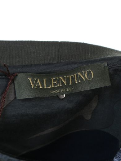 VALENTINO Panther Print Camouflage Cotton T-Shirt