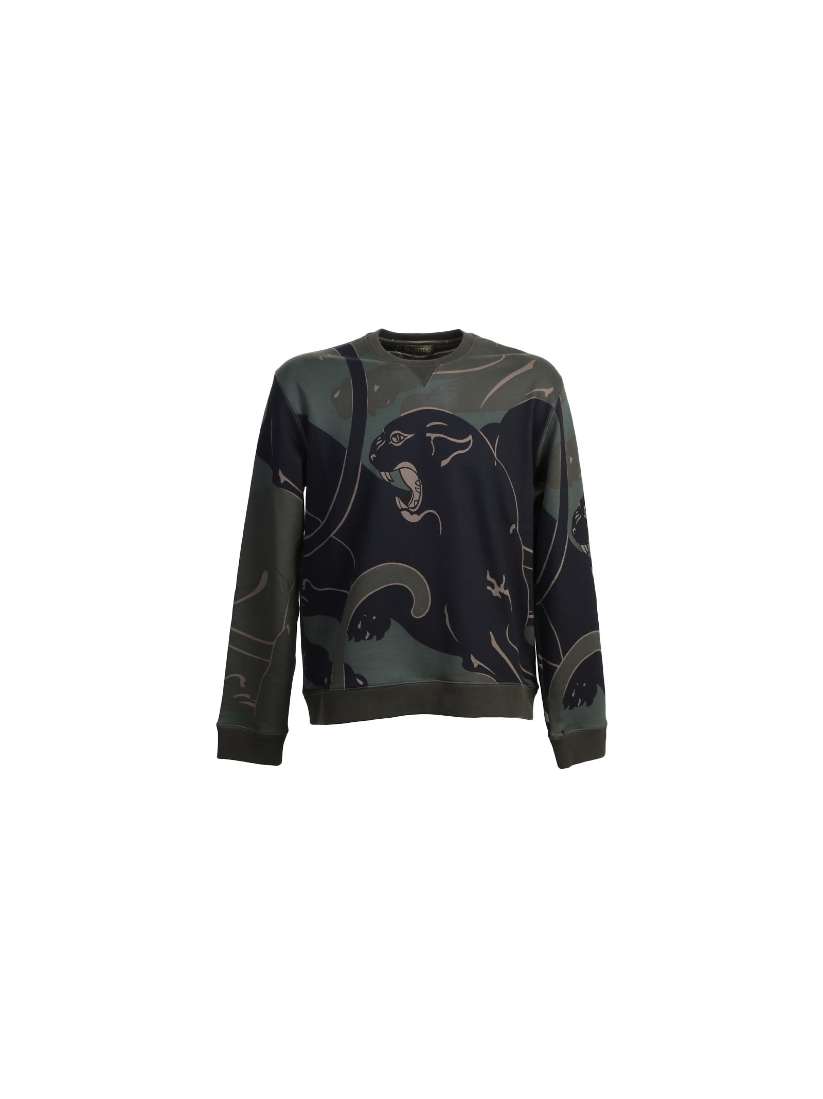 Panther Print Camouflage Cotton Sweater