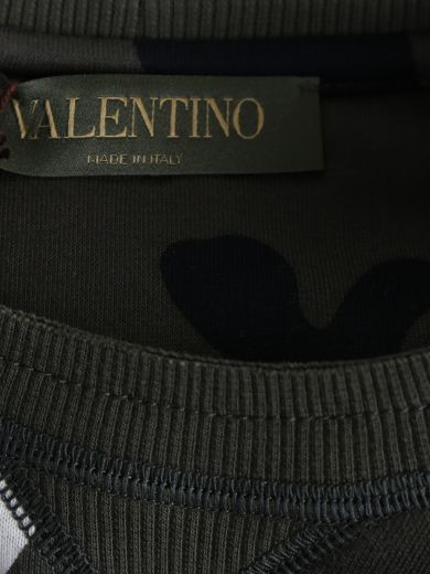 VALENTINO Studded Camouflage Cotton Sweater