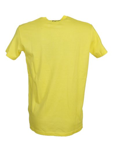 DSQUARED2 Printed Yellow Cotton T-Shirt