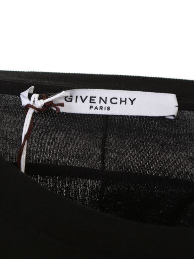 GIVENCHY Printed And Mirror Details Black Cotton T-Shirt