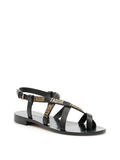 DIOR J'A Sandals in Black/Ant B|Nero