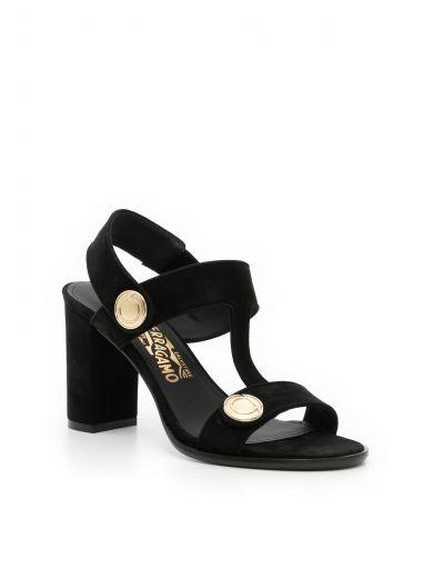 SALVATORE FERRAGAMO Suede Edict Sandals