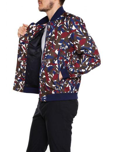 Z ZEGNA Printed Nylon Jacket