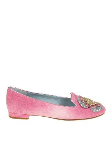 CHIARA FERRAGNI Chiara Ferragni Pink Slip On With Applications