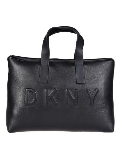 DKNY Debossed Logo Shoulder Bag