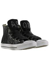 Converse Black Lace Glitter Sneakers