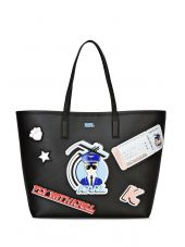 Karl Lagerfeld Black Patch Shopper