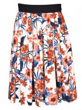 Fausto Puglisi Floral Pleated Skirt