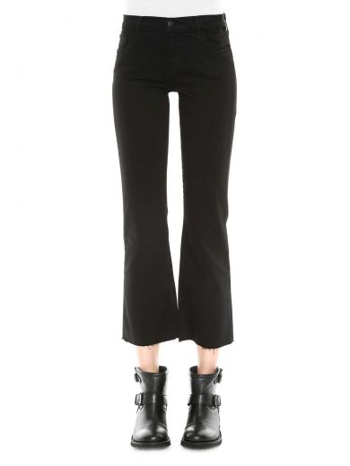SELENA MID-RISE CROPPED BOOTCUT JEANS