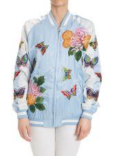 Parosh Bomber Embroidery Flowers