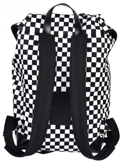 GIVENCHY Rider Leather And Checkerboard Shell Backpack