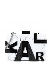 Karl Lagerfeld Marble Clutch