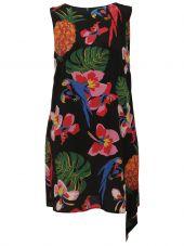 Valentino Tropical Print Dress