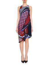 Energy Wave Printed Silk Dress