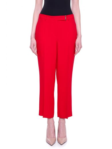 SALVATORE FERRAGAMO Grain De Poudre Trousers at Italist.com