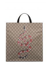 Sand/brown/black Gg Supreme Top Handle Bag