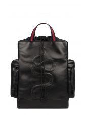 Black Snake Leather Backpack