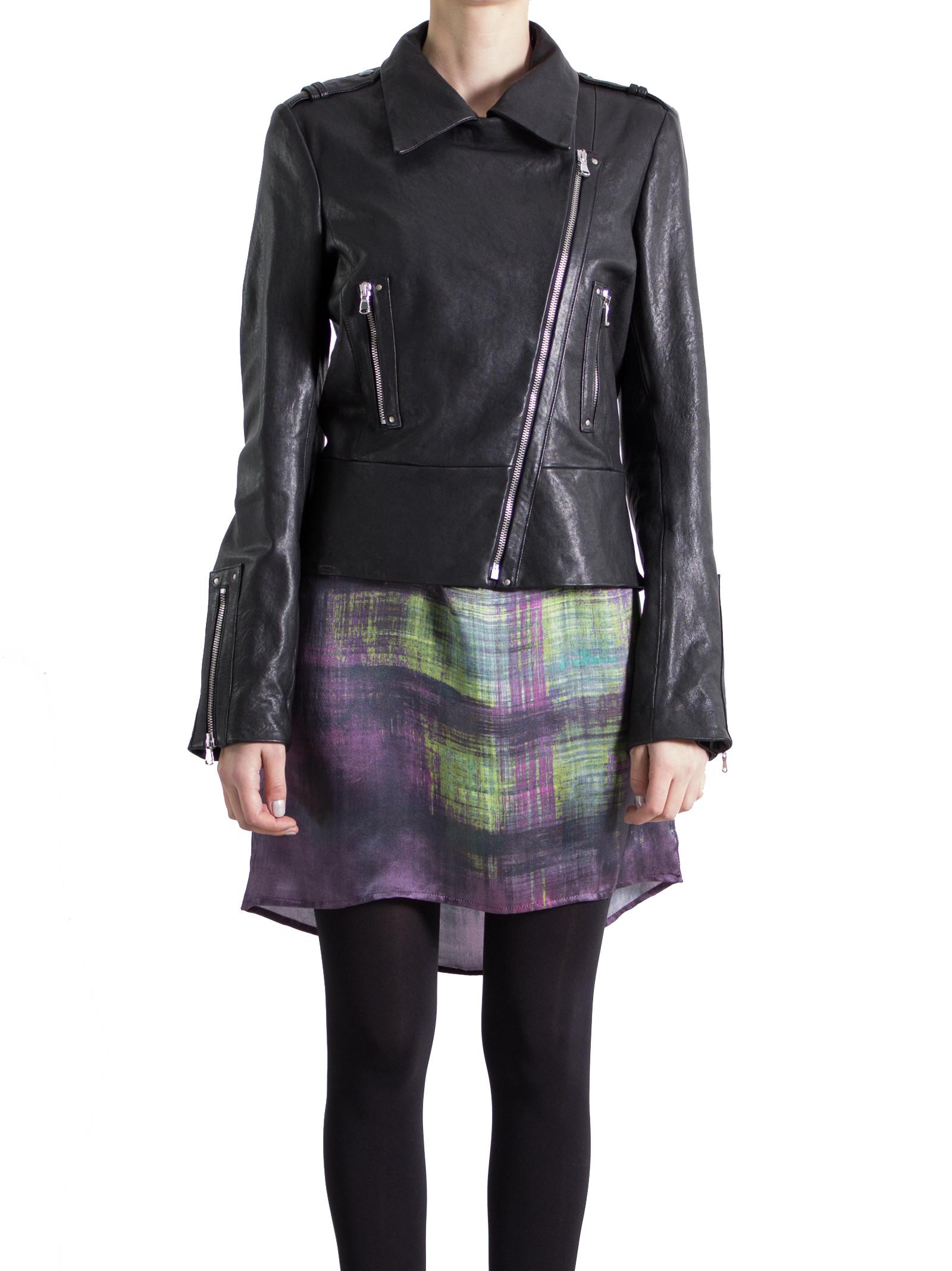 Leather Collection Black Biker Jacket
