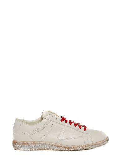 MAISON MARTIN MARGIELA Cream Ace Low Sneakers at Italist.com